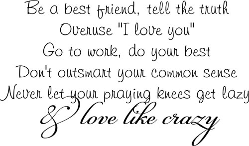 Love Like Crazy | Wall Decal