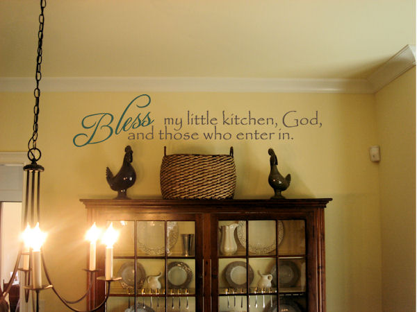 Bless My Little Kitchen Wall Decal