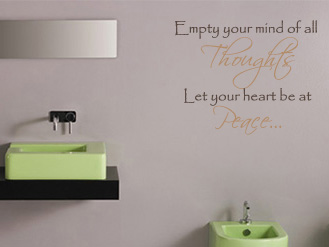 Empty Your Mind Wall Decal