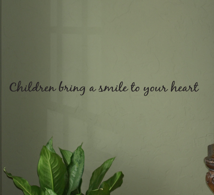 Children Bring A Smile Wall Decals