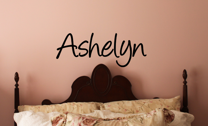 Angelina Name Wall Decal