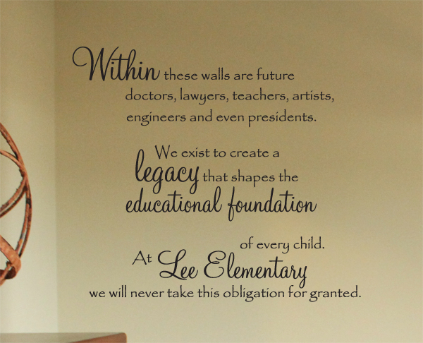 Within These Walls Wall Decal