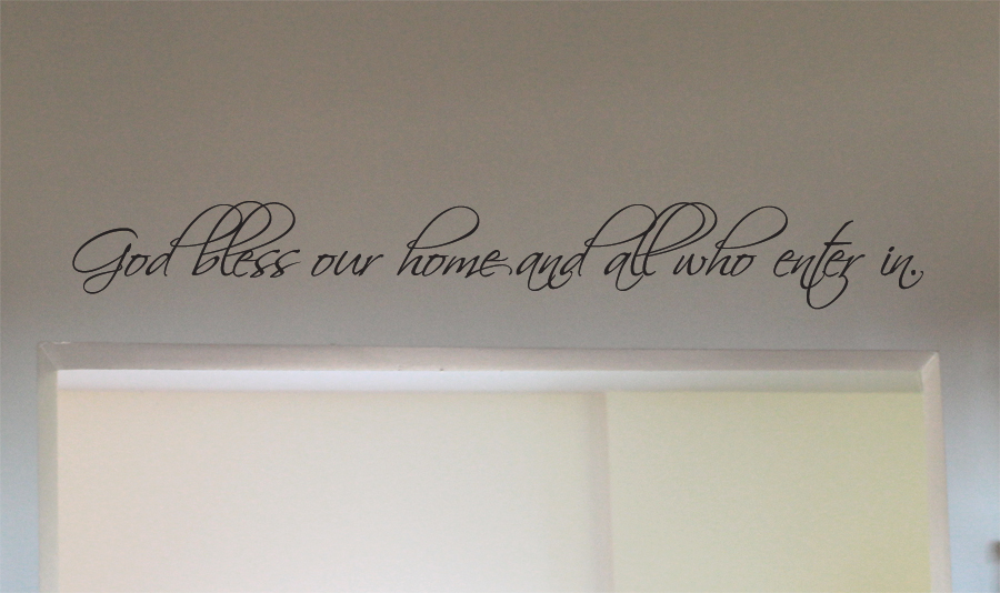 God Bless Our Home Wall Decal