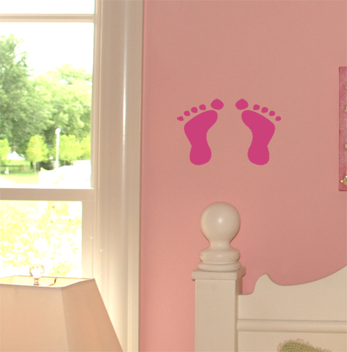 Baby Footprints Wall Decals