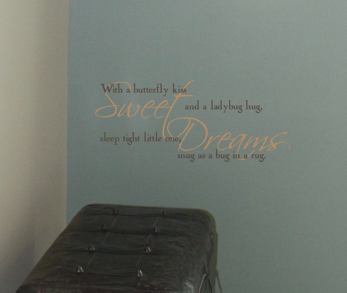 Sweet Dreams Bug In A Rug Wall Decal