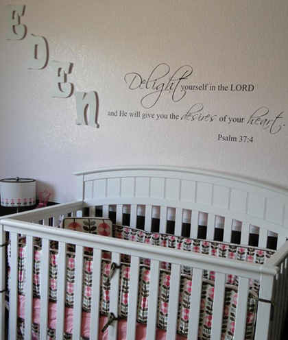 Delight in the Lord Wall Decal