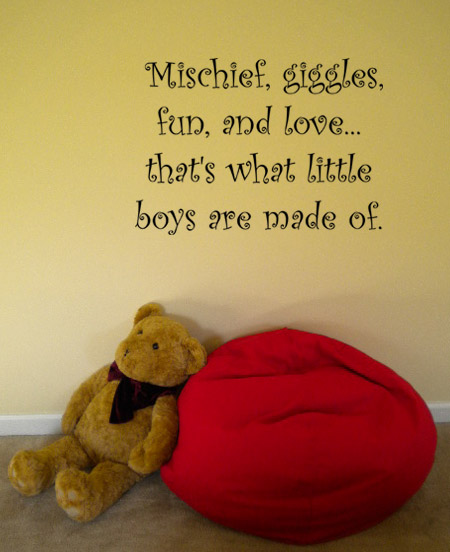 Little Boys Made Of Wall Decal