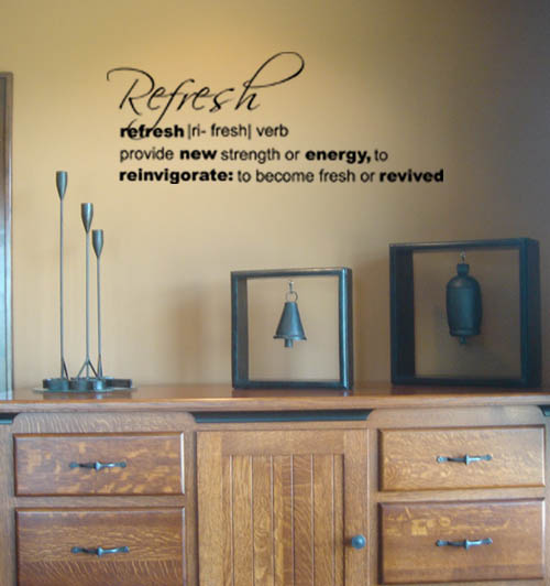Refresh Definition Wall Decals