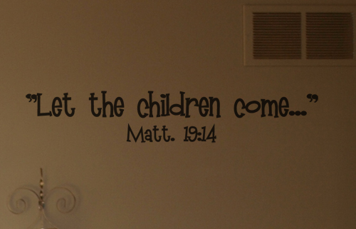 Let The Children Come Wall Decal