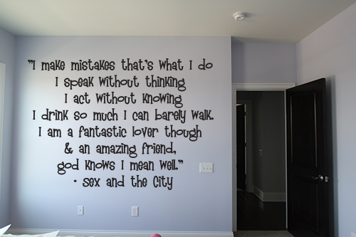 Sex and the City Wall Decal