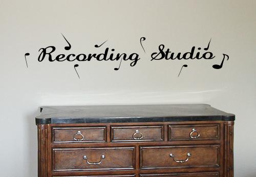 Recording Studio Wall Decal