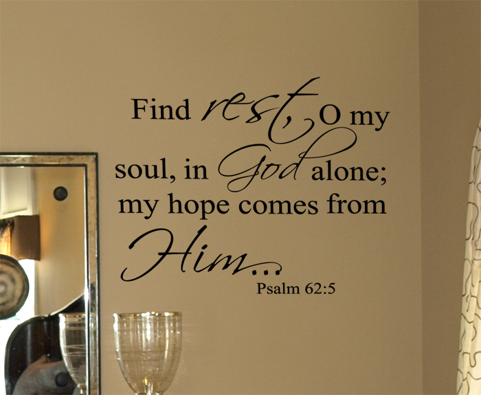 Psalm 625 Wall Decal