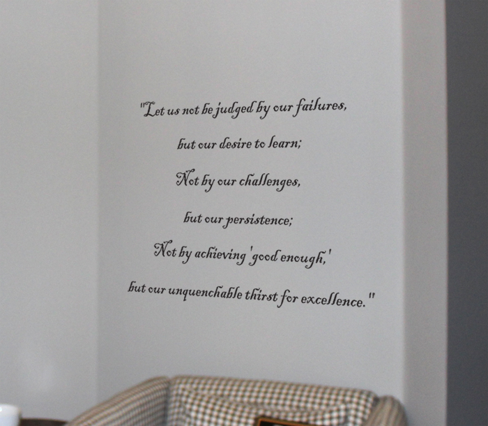 Not Be Judged Wall Decals