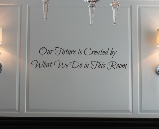 Our Future Is Created Wall Decal
