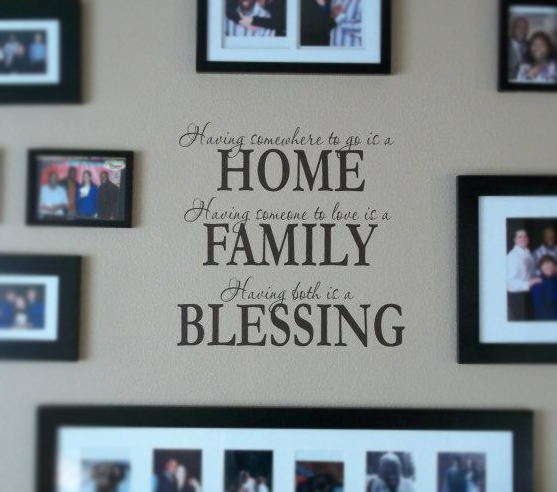 Home, Family, Blessing Wall Decal