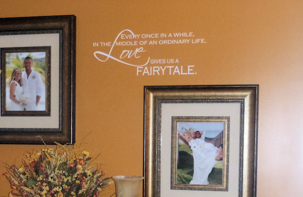 Love Gives us a Fairytale   Wall Decal