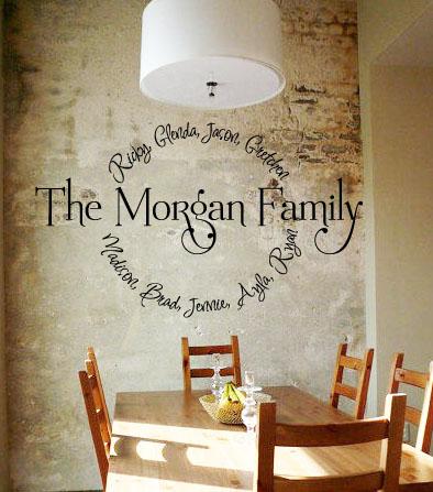 Family Name Circle Wall Decal