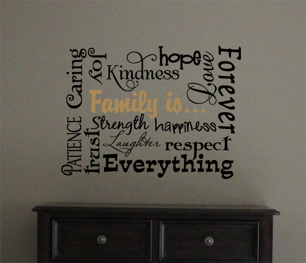 Family Is Subway Art II Wall Decal