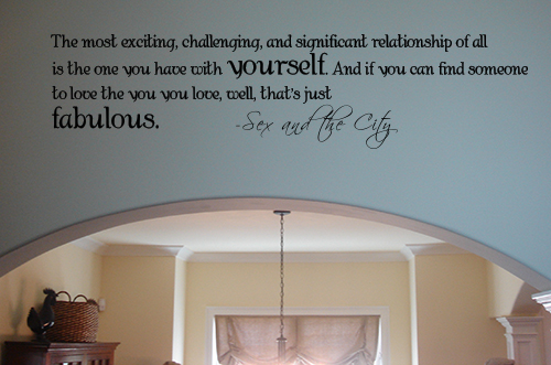 Relationship With Yourself Wall Decal