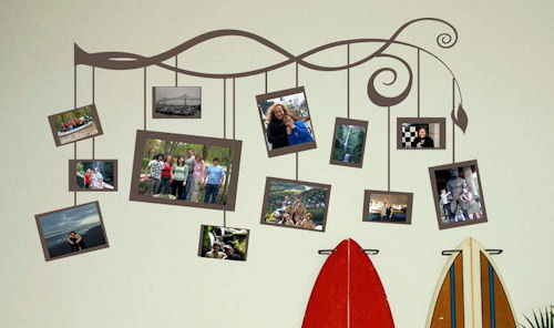 Extra Photo Frames Wall Decal