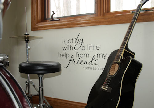 With A Little Help Wall Decal
