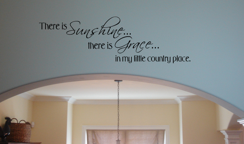 Sunshine Grace Country Wall Decal