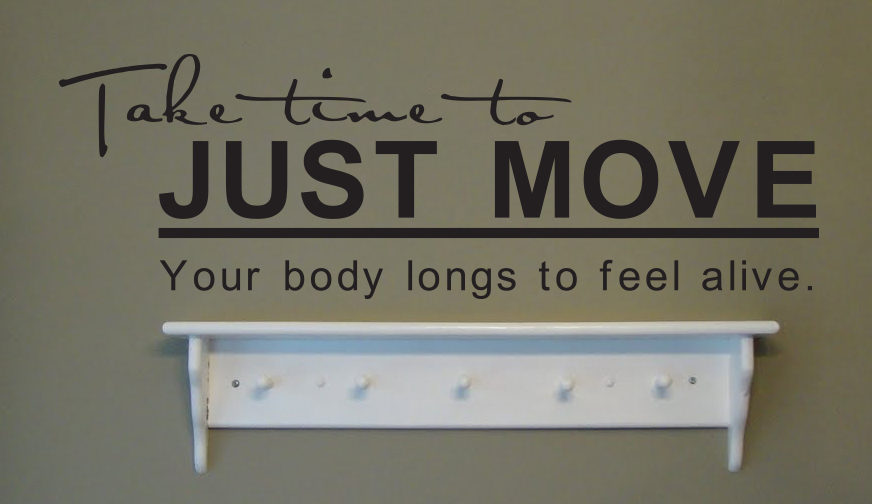 Just Move Wall Decal