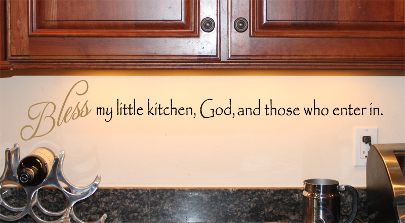Bless My Little Kitchen God Wall Decal