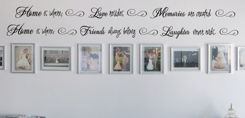 Home Love Memories Friends Laughter Wall Decal