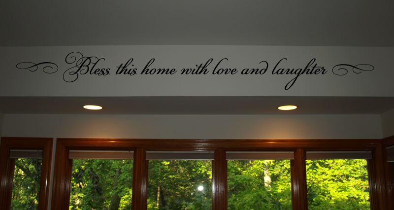 Bless With Love Laughter Wall Decal