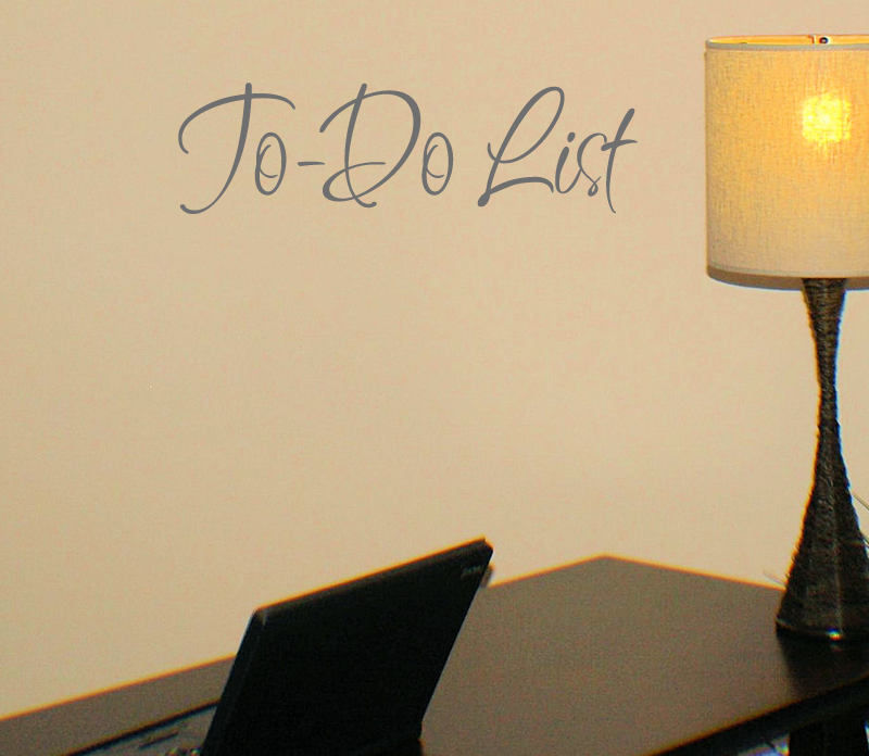To Do List Wall Decal