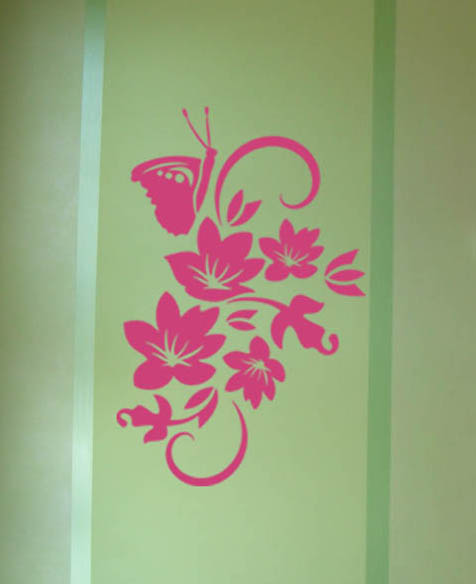 Butterfly Leaves Wall Decal