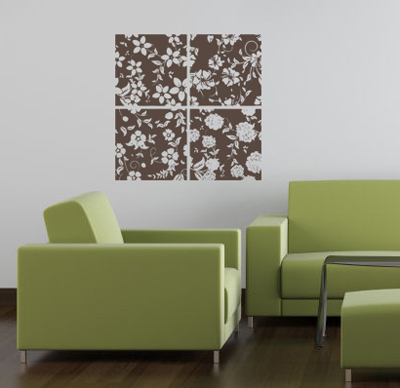 Floral Blocks Wall Decal