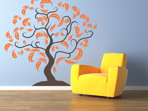 Fancy Leaf Tree Giant Wall Decal
