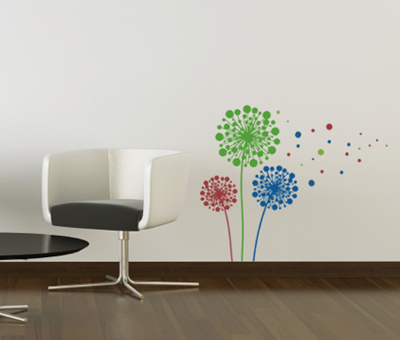 Dandelion Dots Wall Decal