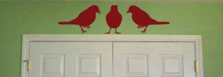 Perched Birds Wall Decal