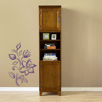 Woodcut Flowers Wall Decal