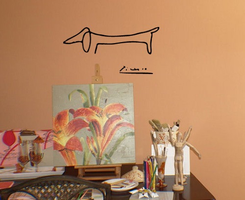 Picasso Dog Wall Decal