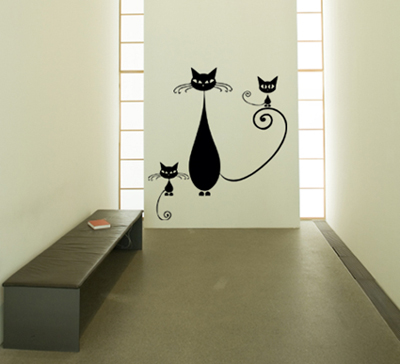 Cat Family Wall Decal