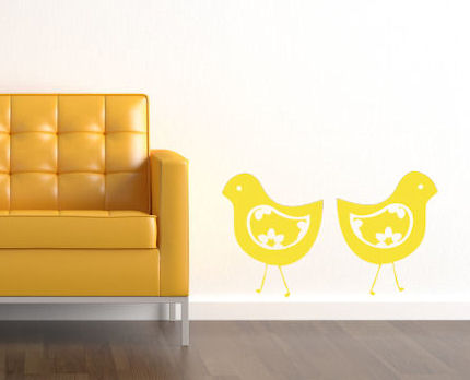Floral Birdies Wall Decal