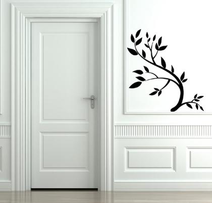 Leafy Stem Wall Decal