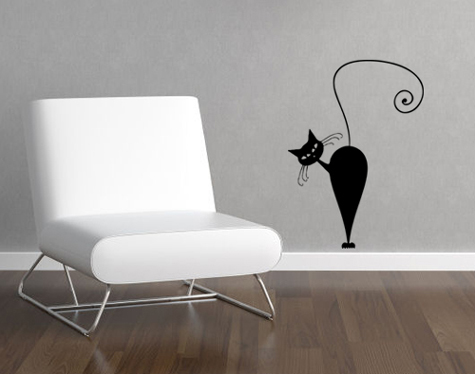 Cattitude 4 Wall Decal
