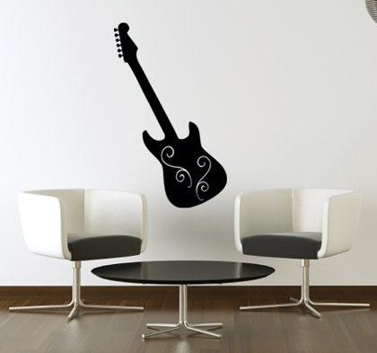 Guitar Wall Decal