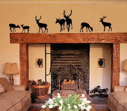 Deer Silhouettes Wall Decal
