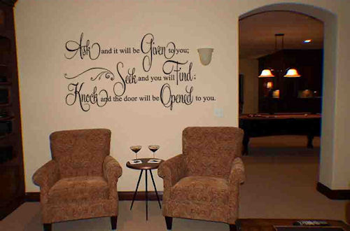 Ask Given Wall Decal