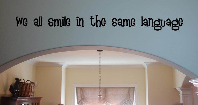 All Smile Same Language Wall Decal