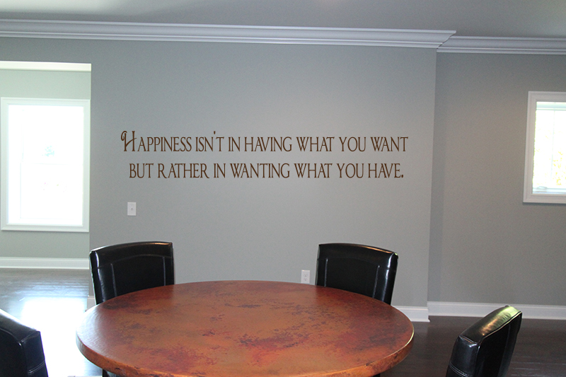 Happiness Wanting What You Have Wall Decals
