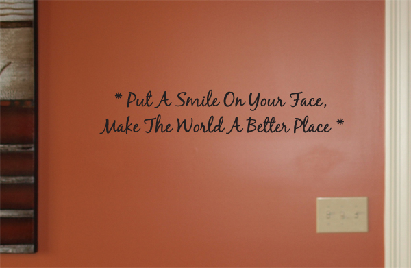 Put A Smile On Your Face Wall Decals