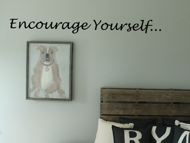 Encourage Yourself Wall Decals