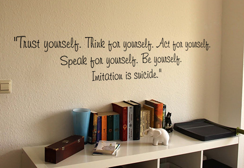 Imitation Is Suicide Wall Decals